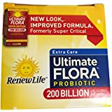 Renew Life Ultimate Flora Extra Care Probiotic 200 Billion (Formerly Super Critical), 7 counts