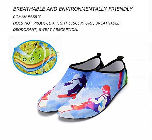 Vattensportskor Barfota Lätt Snabbtorkande Aqua Strumpor Slip-on För Beach Simma Surfa Yoga Övning Hållbara Enda Män Kvinnor En Fjäder
