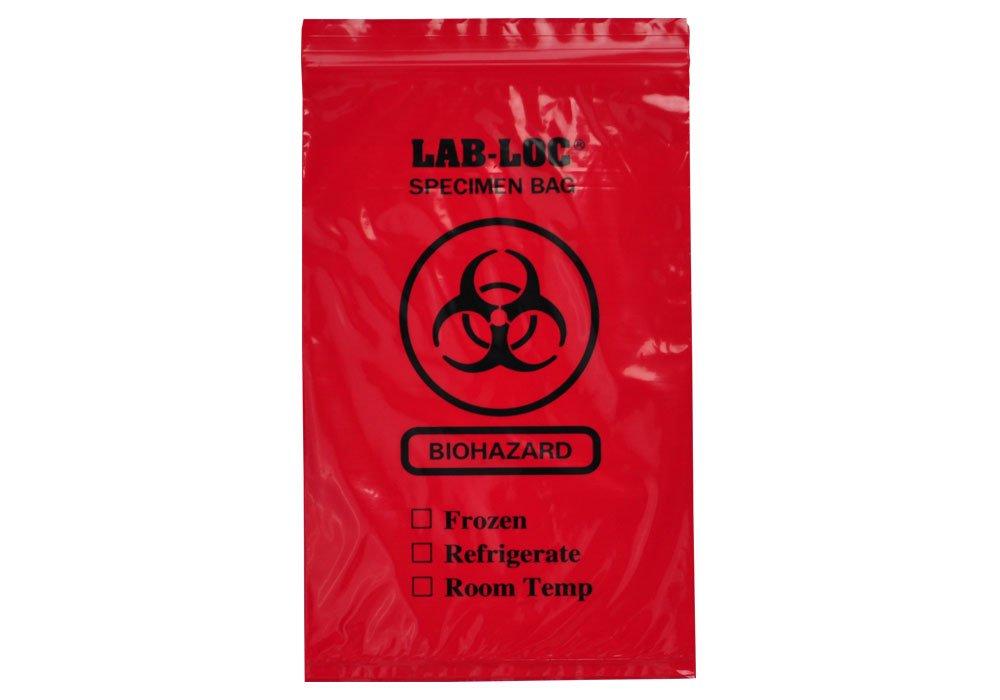 6 x 9 Clear Case of 1000 Elkay Plastics LAB20609ROP 2 mil Opaque Reclosable 3-Wall Specimen Transfer Bag