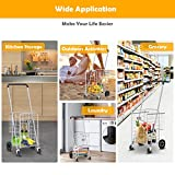 TUFFIOM Folding Shopping Grocery Cart, Heavy Duty