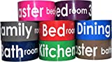 Labeling Tape for 3 Bedrooms, Family Room, Dining Room, Kitchen, 2 Bathrooms; 2-INCH Wide, 164 Feet per Roll! - by Golden Spearhead