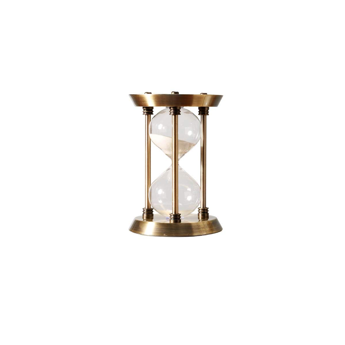 QINRUIKUANGSHAN Hourglass Countdown Timer Nordic Decoration Creative Study Room Decoration Wine Cabinet Display Glass Products Crafts Copper Color 300 Points Two (Color : Bronze, Edition : B) by QINRUIKUANGSHAN