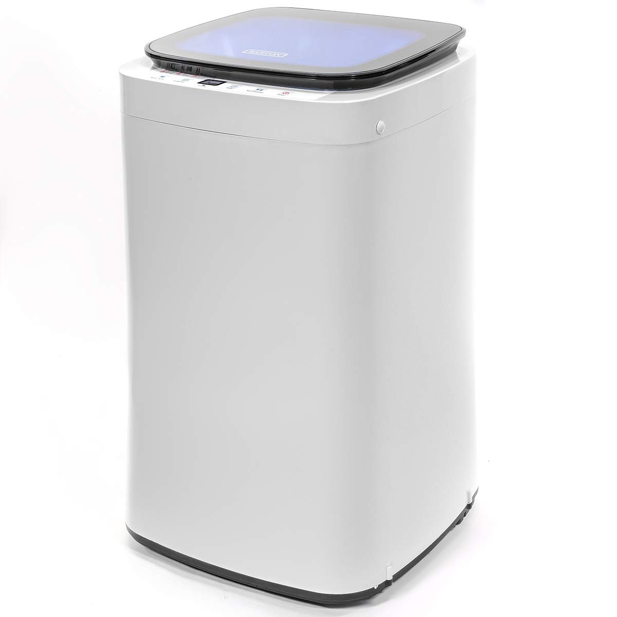 Barton Full-Automatic Washing Machine Compact 7.7lbs Laundry Washer Spin with Drain Pump 9 Programs Selections w/LED Display by Barton