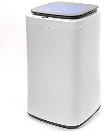 Barton Full-Automatic Washing Machine Compact 7.7lbs Laundry Washer Spin with Drain Pump 9 Programs Selections w/LED Display