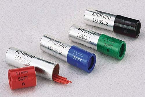 - Autopoint® Replacement Leads, (2)Tubes (12 sticks per tube), 0.9mm, one tube Red B(soft), one tube Blue B(soft) (89420)