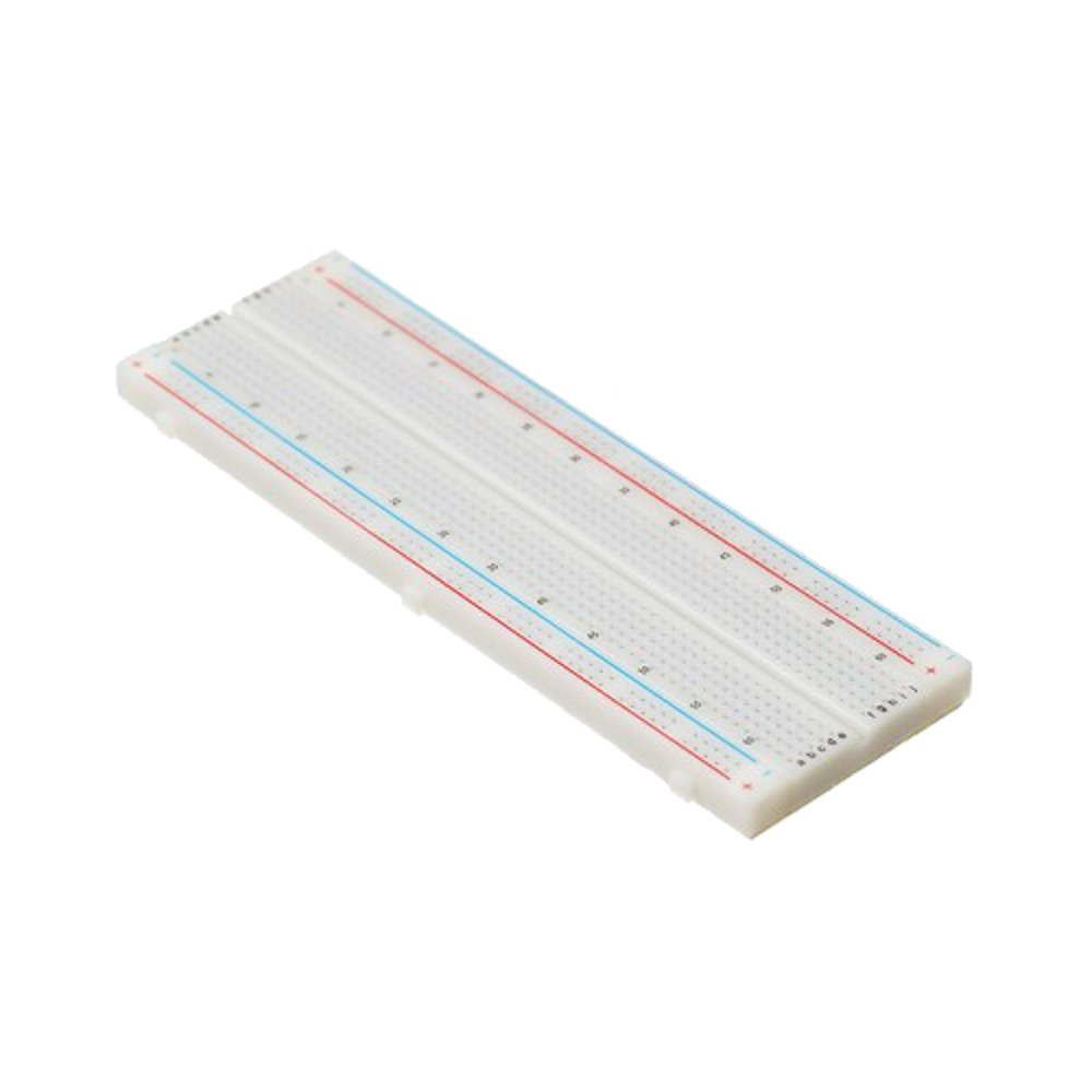 Optimus Electric 2pcs Solderless Breadboard With 830 400 Tie Points And Matching Pcb Pin Holes For Diy Electronic Electrical Circuit Prototypes Laboratory Experiment