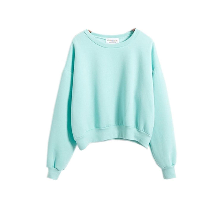 Kawaii Harajuku Pastel Green Mint Color Hoodies For Womens Lovely Www Danielschmack Com