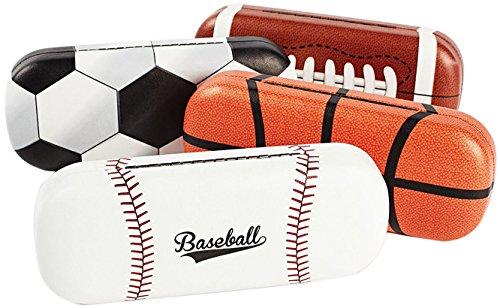 Hard Shell Eyeglass Case For Boys & Girls, Kids Small Glasses Case, Sports Ball