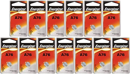 (Energizer A76 LR44 1.55V Button Cell Alkaline Batteries (Individually Packaged Each with Retail Hanging Tab) x 13)