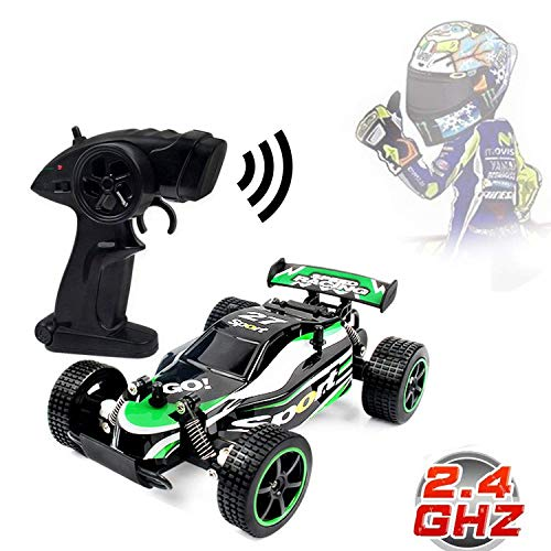Blexy RC Racing Cars 2.4Ghz High Speed Rock Off-Road Vehicle 1:20 2WD Radio Remote Control Racing Toy Cars Electric Fast Race Buggy Hobby Car Green 211 - Games Car Radio Controlled