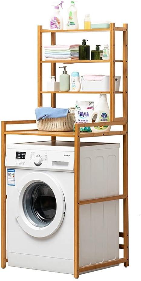 Machine shelf Estante for lavadora de 4 capas de madera de bambú ...