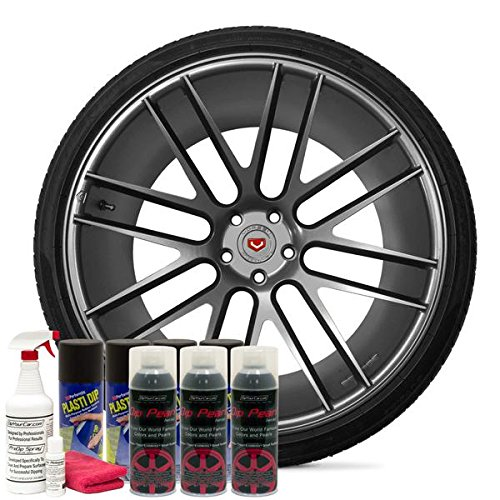 DipYourCar Popular Wheel Kit - Hyper Silver (Silver Hyper Wheel)