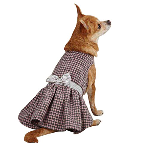 East Side Collection Wool/Polyester Teatime Dog Dress, Small, Pink by East Side Collection (Image #1)