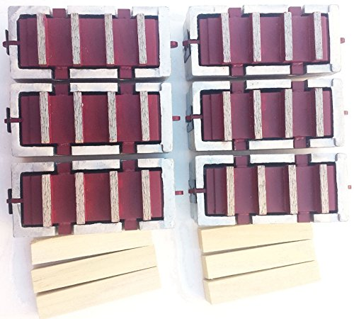 6Pack Diamond Grinding Blocks for Edco, Stow and General ()