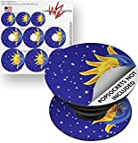 Decal Style Vinyl Skin Wrap 3 Pack for PopSockets Moon Sun (POPSOCKET NOT INCLUDED) by WraptorSkinz