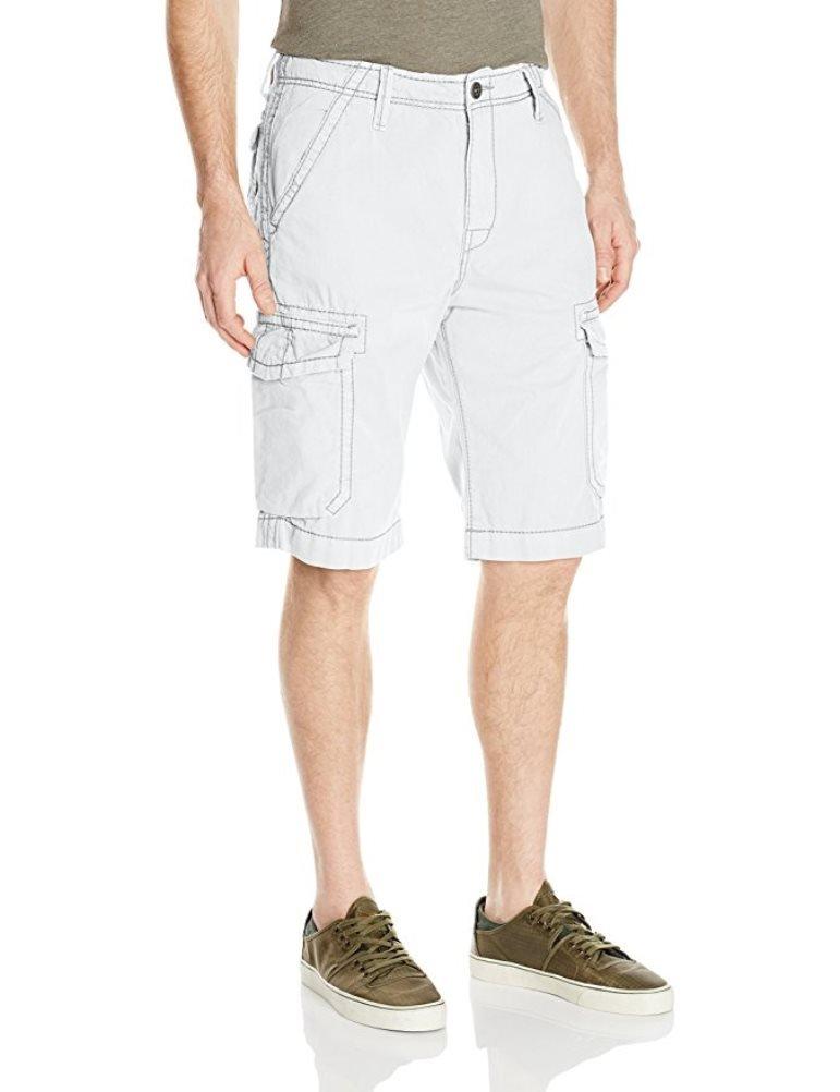 True Religion Men's Trooper Isaac Cargo Short (44, White)