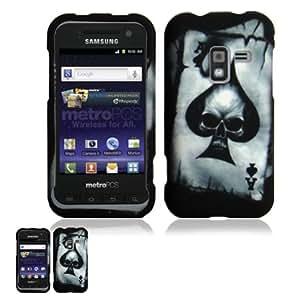 Samsung Galaxy Attain R920 Poker Skull Design Snap On Case