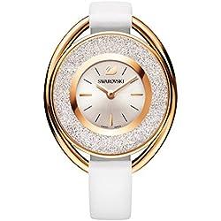 Ladies' Swarovski Crystalline Oval White Tone Watch 5230946
