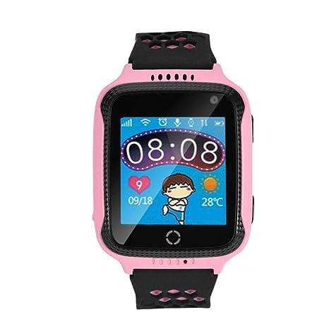 Acogedor Reloj para niños con cámara GPS y Reloj para Celular(Rosado)
