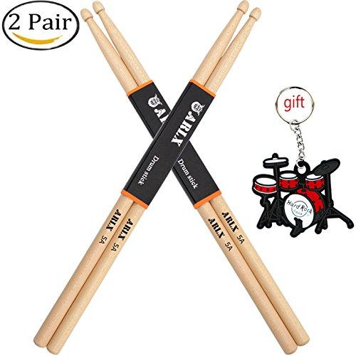 WOGOD 5A Drum Sticks Maple Drumsticks (Two pair)