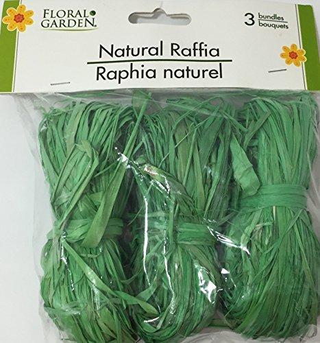 Natural Raffia 3 Bundle Pack Green
