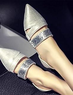 DFGBDFG PDX/Damen Schuhe BLING flach Ferse Ballerina/spitz Wohnungen Office & Karriere/Party & Abend/Kleid Silber/Gold, golden-us7.5/eu38/uk5.5/cn38 - Größe: One Size