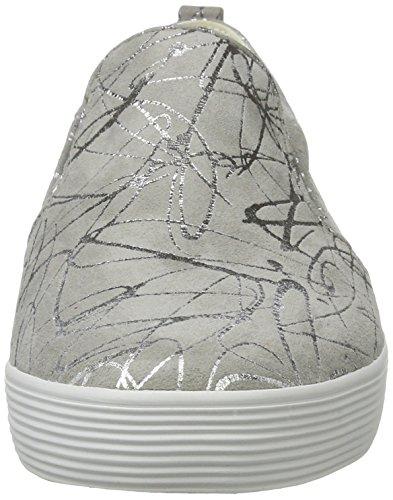 Gabor Shoes Comfort, Zapatillas para Mujer Gris (hellgrau/silber 61)