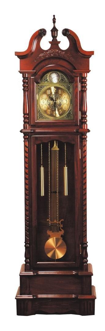 ACME 01431 Karbin Grandfather Clock, Dark Walnut Finish by ACME