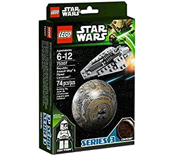 LEGO Star Wars - Planetas: Republic Assault Ship & Planet Coruscant (75007)