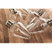 Factory Direct Craft Package of 12 Acrylic Shatter Proof Fillable Light Bulb Ornaments