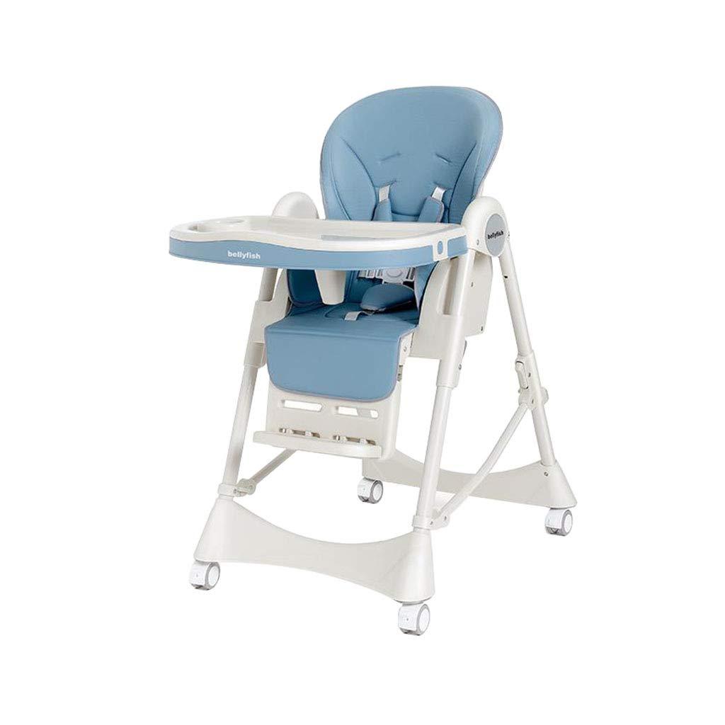 ハイチェア ハイチェアベイビーフィードシートチェア折りたたみ式調節可能な幼児ハイローチェア   B07SZTDPSZ