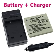 CANON NB-4L BATTERY+CHARGER FOR ELPH SD1000 SD1100 IS