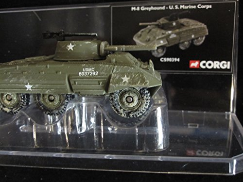 M-8 Greyhound Light Armored Vehicle US Marines USMC Markings Corgi Fighting Machines Series with Display ()
