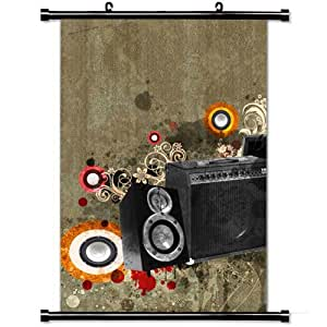 Home Decor Art Movie Poster with Instruments Graphics Background Tv Set Shoes Wall Scroll Poster Fabric Painting 23.6 X 35.4 Inch (60cm X 90 cm)