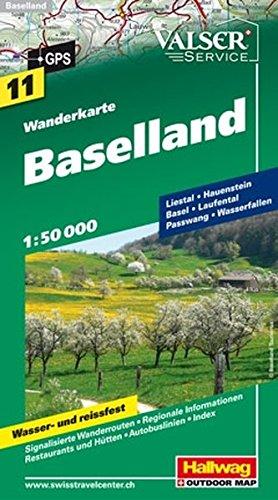 Wanderkarte Baselland 1:50 000 (Hallwag Wanderkarten)