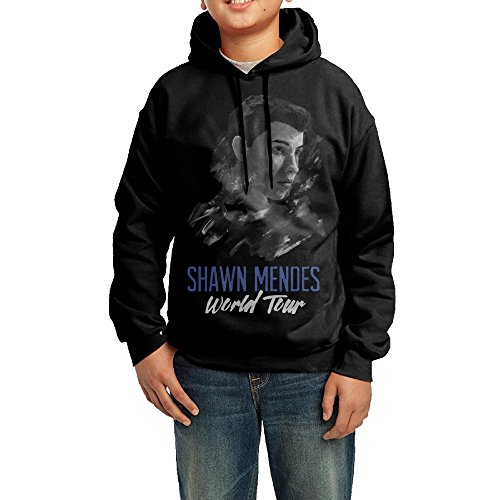 YHTY Youth Boys/Girls Hooded Sweatshirt Shawn Mendes World Tour Black Size (Funniest Kid Costumes)