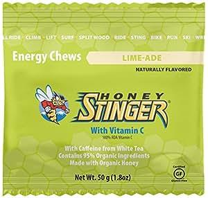 Honey Stinger Energy Chews, Limeade, 1.8 Ounces (Pack of 12)
