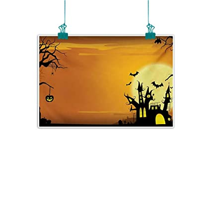 Halloween Spooky House Drawing.Amazon Com Warm Family Halloween Abstract Painting Gothic