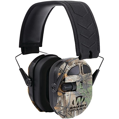 WALKER'S GAME EAR GWP-XPMQRT Ultimate Power Muff Quads (Realtree(R) Camo) electronic consumer (Quad Walkers Power Muffs)