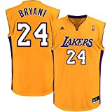 Kobe Bryant Los Angeles Lakers Yellow Kids Replica Jersey (Kids 5/6)