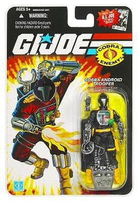 G.I. Joe 25th Anniversary Comic Series Cardback: Cobra B.A.T. (Battle Android Trooper) 3.75 Inch Action Figure -