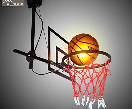 Basketball Stands Lighting Bar School Lottery Children Room Basketball Soccer Theme Chandelier lu201300py ( Size : White ) by SUPPER PP