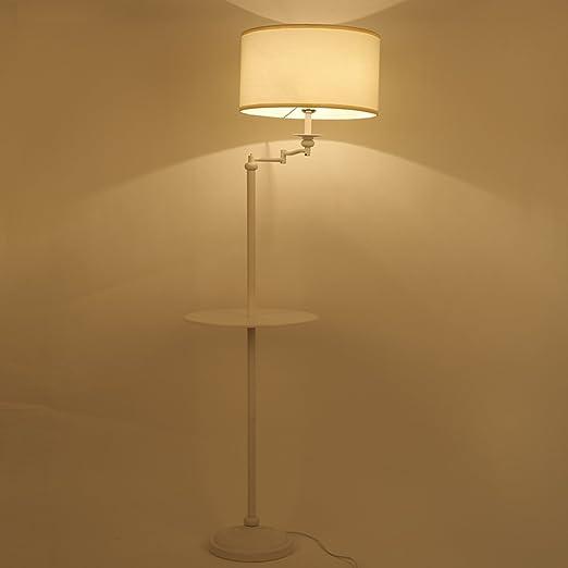 NAUY- American mesa de café lámparas de pie Simple moderna sala de estar dormitorio dormitorio conjunto bandeja mesita de noche pie lámpara de pie Lámpara de pie vertical estilo continental: Amazon.es: Hogar