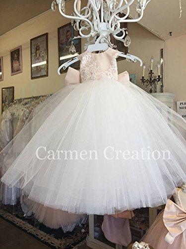 Mini Bride Flower Girl Dress Blush/Ivory NB
