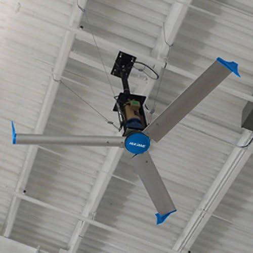 Ventilador Falcon III HVLS azul gigante, 6 pies de diámetro, 1 HP ...