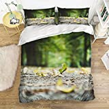 Picture It On Canvas Family Comfort Bed Sheet Forest Road 4 Piece Bedding Sets Polyester Duvet Cover HypoallergenicOversized Bedspread,King Size