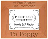 ThisWear Gift Grandpa Best Get Promoted to Poppy Natural Wood Engraved 5x7 Landscape Picture Frame Wood