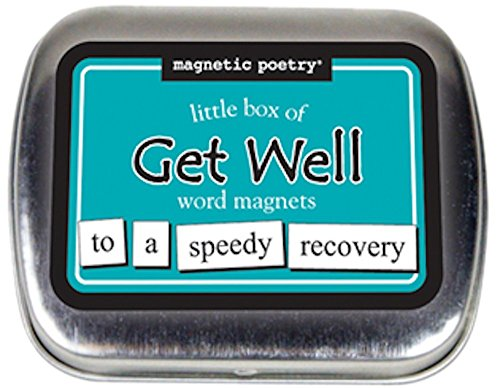 Magnetic Poetry - Little Box of Get Well Kit - Words for Refrigerator - Write Poems and Letters on the Fridge - Made in the USA