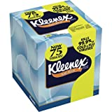 Kimberly-Clark Kleenex 25836 Boutique Anti-Viral Facial Tissue, 8-3/16'' Length x 8-3/16'' Width, White (27 Boxes of 75)