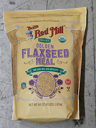 64oz Organic Whole Ground Golden Flaxseed Meal Bob's Red Mill (4 Pounds Total) ()